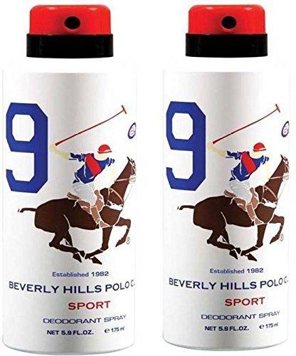 Beverly Hills Polo Club Combo desodorantes No.9 Body Spray para hombres (175 ml cada uno)