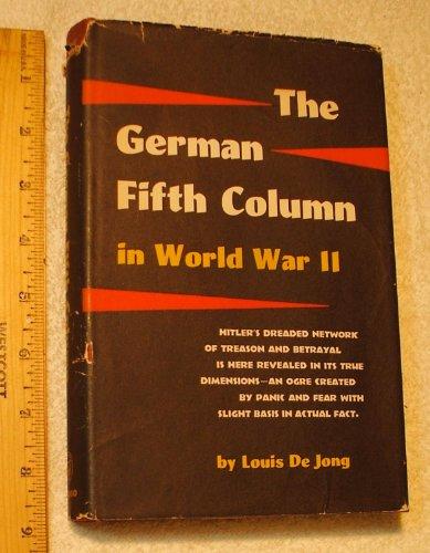 The German Fifth Column in World War II