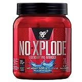 BSN Nutrition N.O.-Xplode, Suplementos Deportivos Pre Workout en Polvo con Creatina Monohidrato, Cafeina, Beta Alanina, Vitamina D y Vitamina B Complex, Frambuesa Azul, 30 Porciones, 0.6 kg