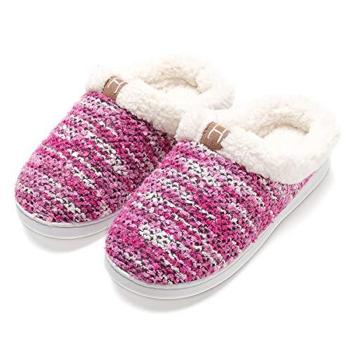 Zapatillas de casa Mujer, Forro algodón, Ultraligero cómodo y Antideslizante, Pantuflas...