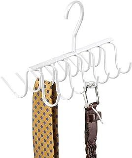 Cinture 11 Supporti per Sciarpe Gancio Girevole 360/° 1 Pz Antiscivolo Cravatte Color Nero Relaxdays Gruccia Multipla
