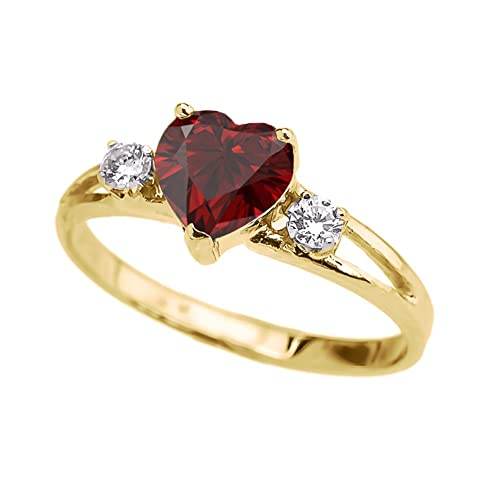 Nathis Dyed Ruby Round Prong Set Ring