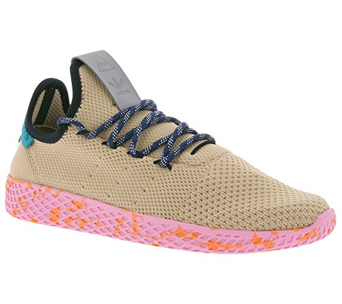 Adidas Hombre Pharrell Williams Zapatillas con Primeknit Superior That Chales The Foot en Adaptable y Soporte y Ultraligera Confort También Featuring Perfo - Beige, 36 2/3