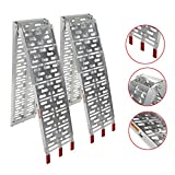 AutoForever 7.5' Aluminum Loading Ramp Compatible with Pickup Truck Trailer Motorcycle ATV Lawn Mower Ramps - 2pc