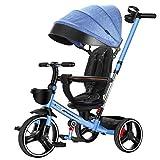 La Bicicleta for niños Ligera Plegable Plegable del Triciclo for niños no Necesita ser instalada Soporte for Vasos Soporte Ajustable Carrito de Bebe Silla de Paseo (Color : D)