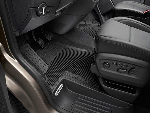 Volkswagen 7H1061551D 041 T5T6Original Alfombrillas de Goma, Delanteras, con botón, para Transporter Multivan Caravelle * * * * * * Alfombrillas de Goma