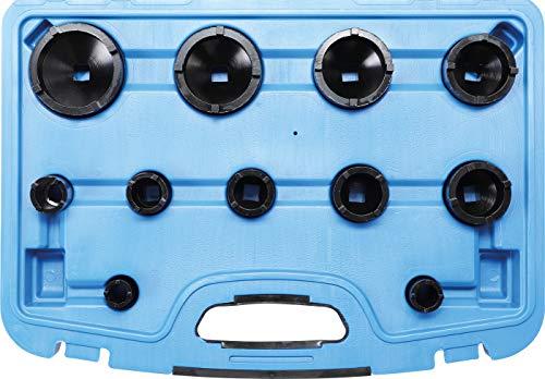 BGS 8265 | Nutmutternschlüssel-Satz | 11-tlg. | Zapfen außen liegend | KM0-1-2-3-8-9