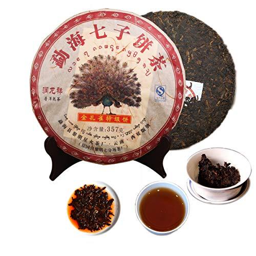357g (0.787LB) Tè maturo Pu'er Tè vecchio Yunnan Puer Menghai Qizi Tè pavone dorato Tè nero Cereali Tè Pu-erh Tè Pu Erh Tè cinese Tè verde Tè Puerh Tè rosso sano Verde Buono Shu Cha