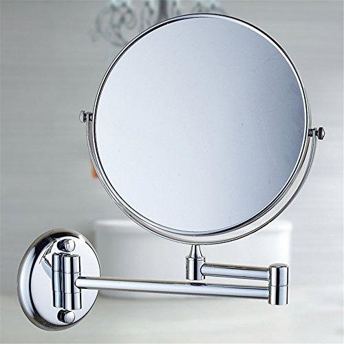 MIWANG La vanité de Salle de Bains Miroir de rétroviseur Rabattable WC Extension Recto Verso Anciens agrandir Le Miroir de courtoisie, 8 Pouce