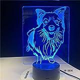 Nachttisch Farbwechsel schäfer Stil tischlampe Hund nachtlicht Dekoration Baby Schlaf Beleuchtung Geschenk
