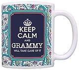 N\A Grammy Mother 's Day Gift Keep Calm Grammy Si prenderà Cura di Esso Regalo Tazza da caffè Tazza da tè Paisley