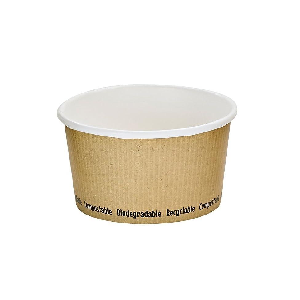 Compostable Paper Soup Cup (Case of 500), PacknWood - Kraft Brown Soup Bowls (12 oz, 2.5