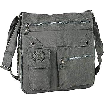 Bag Street Sac /à main bandouli/ère Bodybag Nylon Beige gris//marron