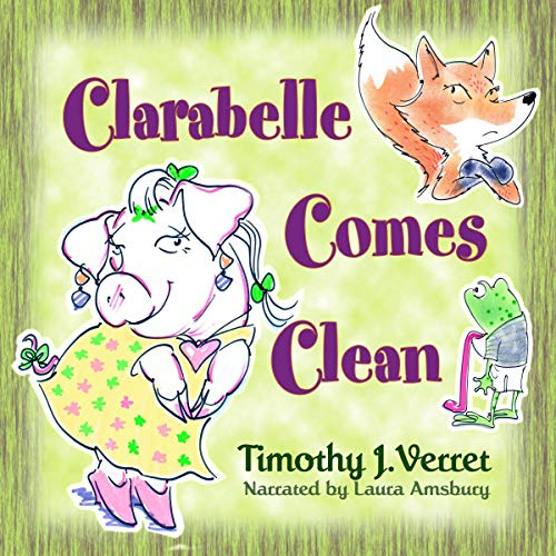 Clarabelle Comes Clean audiobook cover art