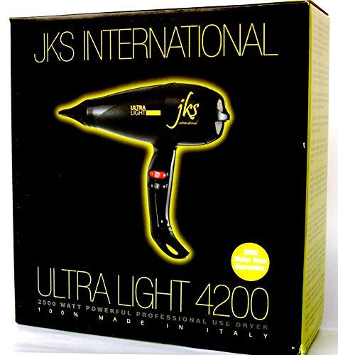JKS Italian Ultra Light 4200 Powerful Blow Dryer, Award Winner, professional stylist #1 choice