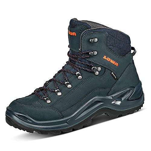 Lowa Herren Renegade GTX Mid Ankle Boot,Navy Orange,44.5 EU