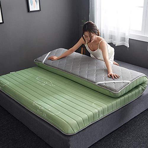 WUAZ Colchón de Espuma, Almohada de 10 cm Látex de Alta Elasticidad Respirable No tóxico Dormitorio para Dormitorio de Estudiantes, hogar, Camping, masajes,6cm,150 * 190cm
