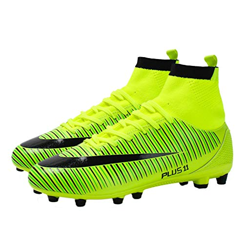 iFANS Men's Athletic Outdoor/Indoor Comfortable Football Shoes Cleats Soccer Sneaker Shoes Green