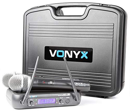 Vonyx WM73 Ontvanger met 2 Draadloze Microfoons