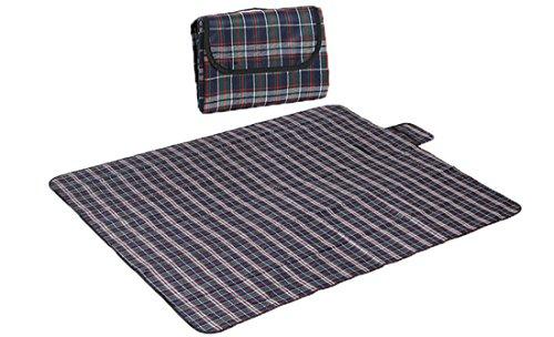 Honeystore 180 * 150 Polyesterfaser Yoga Matte Strand Ausflug Picknickdecke mit Wasserabweisender Unterseite Blau Grün und Rot