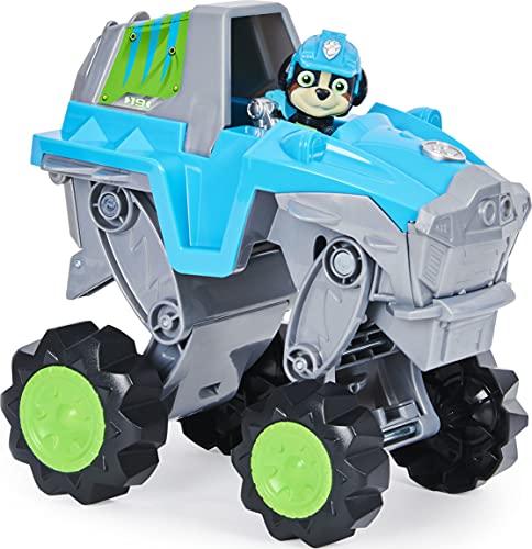 La Pata Patrol 6059329 - Kit de vehículo con figura de Rex y 1 figura de dinosaurio de la Patrulla Canina