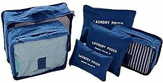 Kit 6 Necessaire Organizador Bolsa Mala Viagem E-bag Mochila (Azul)