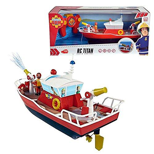 Feuerwehrmann Sam Ferngesteuertes Boot mit Licht und Wasserspritzfunktion