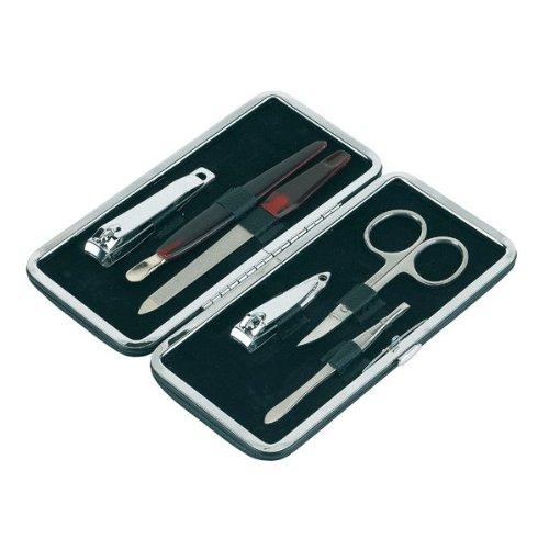 Manikürset mit Nagelschere Nagelfeile Pinzette Nagelschaber und kleinem Nagelknipser
