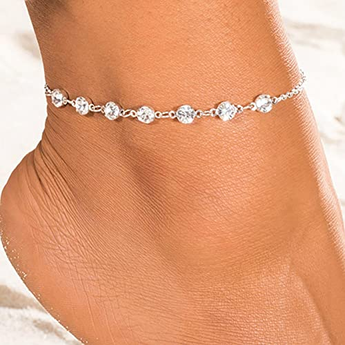 allforyou Moda Vintage Cristal Tobilleras para Mujeres Link Chin Bohemian Gold Silver Color Zapato Cadena de Bota Pulsera Joyería