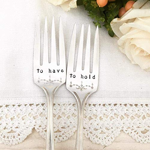 To have & To hold wedding cake forks