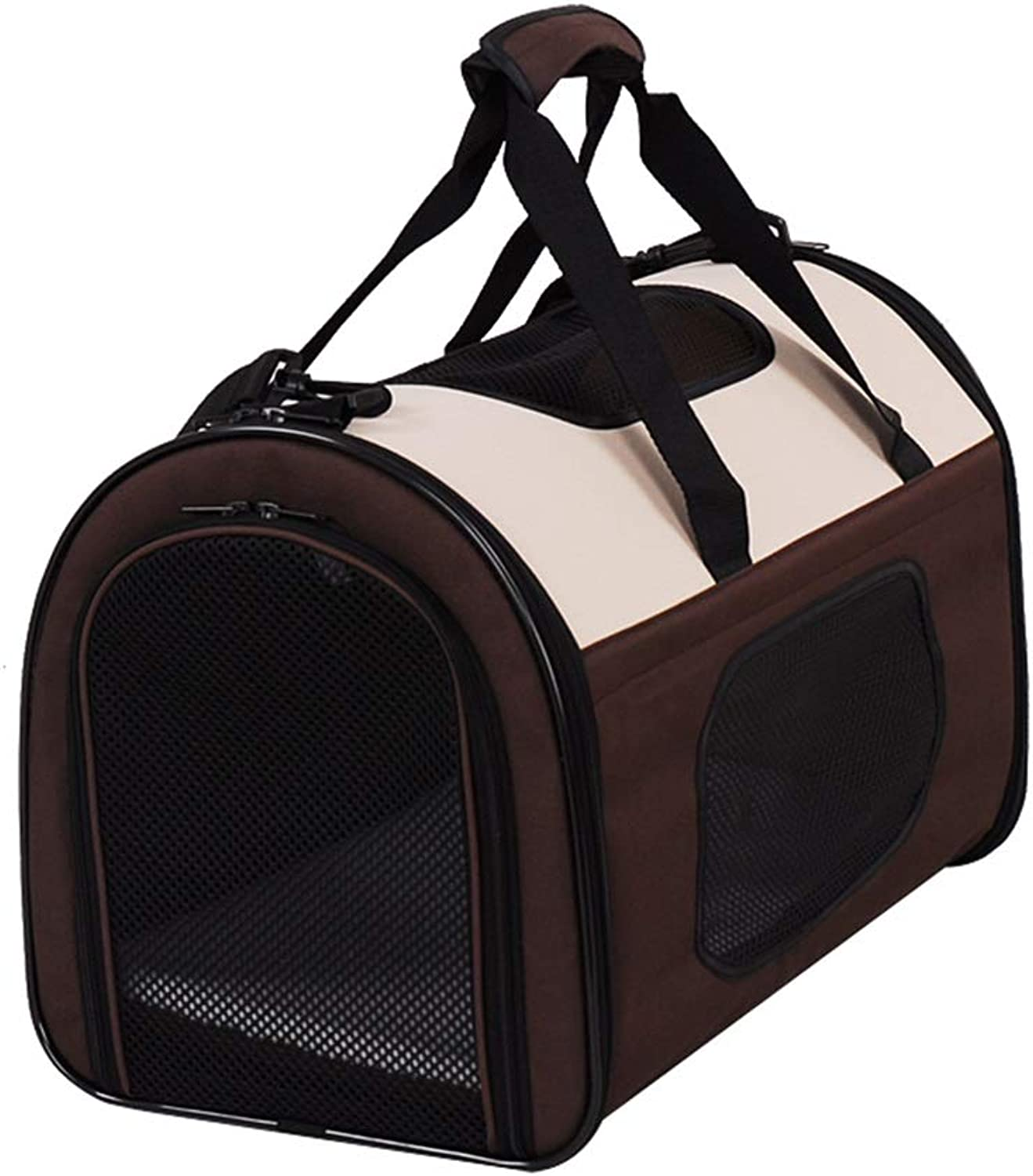 Pet Carrier for Small Dogs, Cats, Puppy, Airline Approved Portable Carrier Bag for Airline, Train, Travel Friendly (50×30×33cm)