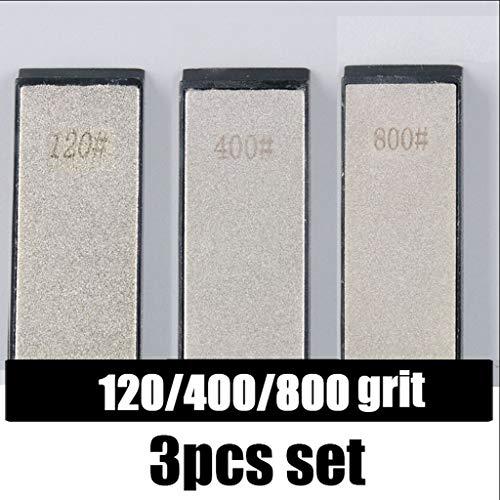 3 Stuks/Set Keuken Sharpener Stones Whetstone, Meer Sets Opties Kleine Bruggen (120 400 800 Grit, 240 600 1000 Grit, 240 800 1600 Grit) (Color : 120 400 800 grit)