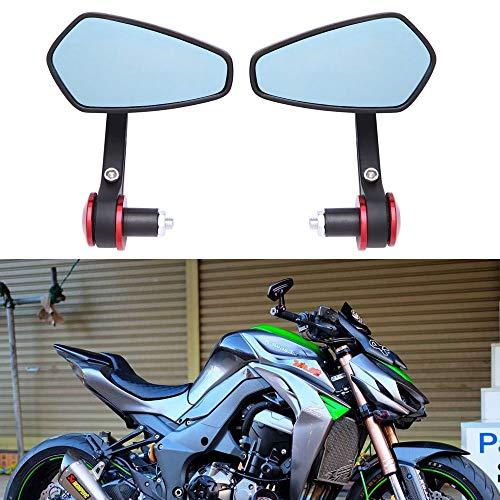 Par de Espejo Retrovisor de Motocicleta de CNC Aluminio Retrovisor Lateral Universal Elegante para Scooter Cruiser Chopper Street Bike