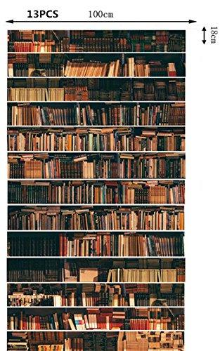 Bücherregal Dekofolie Selbstklebend Treppe FLFK 3D - 4