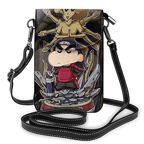 XCNGG N_aruto S_enju H_ashirama Crayon Shin-chan Crossbody Bags for Women's Crossbody Handbags Cell Phone Purse Waterproof Leather Handbags Small Wallet