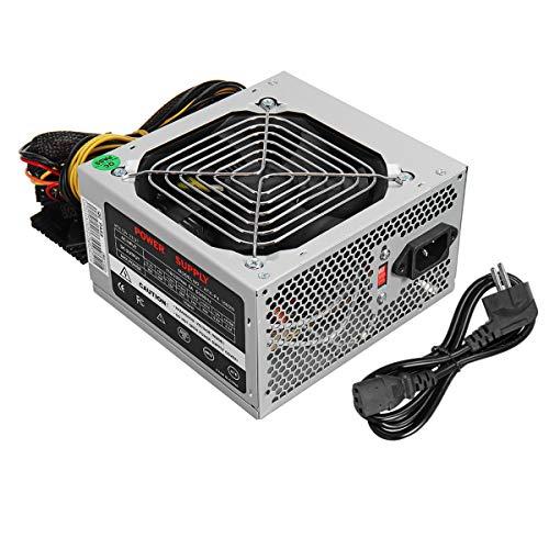 MJJEsports 500W Psu Pfc Atx 24Pin Sata Ordenador Gaming Fuente De Alimentación Para Intel Amd Pc Puede - Negro