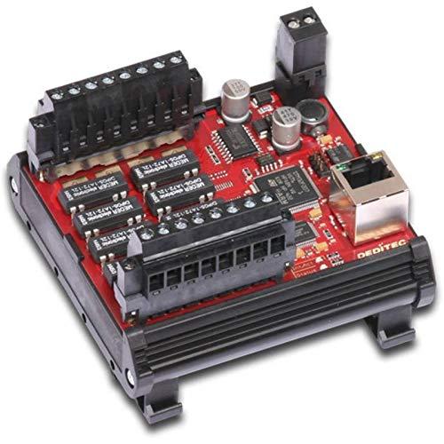 Deditec ETH-RELAIS-8 Ausgangsmodul Ethernet Anzahl digitale Ausgänge: 8 Anzahl digitale Eingänge: 0 Anzahl Relais-Ausgä