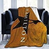 Talcholar Ha-mi-ltoN Ultra-Soft Micro Fleece Blanket Home Decor Warm Anti-Pilling Flannel Throw Blanket for Couch Bed Sofa,50'' x40