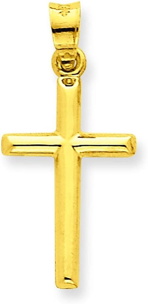 Soldering 14K Yellow Gold Cross Pendant Charm Over item handling ☆ Religious