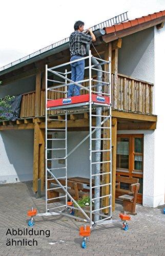 ClimTec Fahrgerüst 5 m Arbeitshöhe mit 4 höhenverstellbaren Fahrrollen Krause 710543