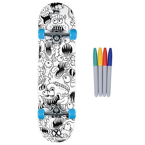 Xootz Kinder-Skateboard für Absolute Anfänger Double-Kick-Trick –Ahorndeck, 78,7x 20,3cm