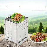 Klappbarer Grill, Holzkohlegrill tragbar für Kochen im Freien Camping Wandern Picknicks, leicht zu tragen, leicht zu reinigen