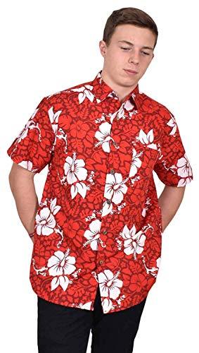 True Face Camiseta para hombre hawaiano con flores