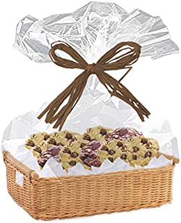 Clear Cellophane Basket Bags-30