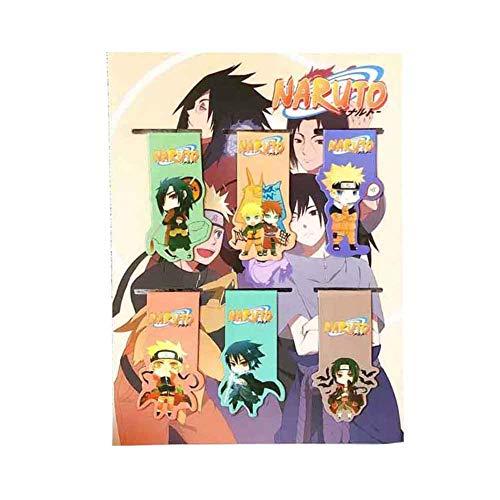 ALTcompluser Anime Magnetische Lesezeichen Set 6-teilig | Perfekt für Leser, Kinder, Studenten, Fotoalbum, Tagebuch(Naruto)