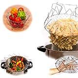 Immagine 1 zycz cestello per friggere pieghevole