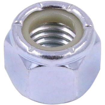 "5//16/""-24 Fine Thread Nyloc Nylon Insert Locknut NTE Thin Zinc Plated"