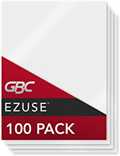 GBC Thermal Laminating Sheets / Pouches, Menu Size, 5 Mil, EZUse, 100-Count (3740474CF)