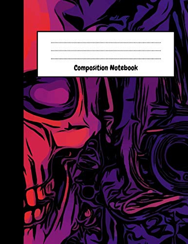 Composition Notebook: Cute College Ruled Journal / Notepad, Skull Lover Gifts, Perfect For School, Office And Daily Use