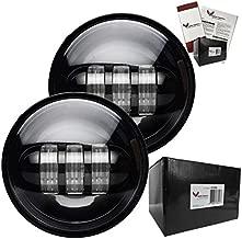Eagle Lights 8700P 4.5 inch LED spot light conversion Kit for Harley Davidson and Others (Black)